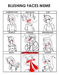 Blushing Meme - blushing faces meme from pixiv kokoro edition by
