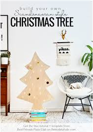 easy diy plywood christmas tree with lights remodelaholic