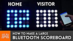 diy bluetooth scoreboard the awesomer