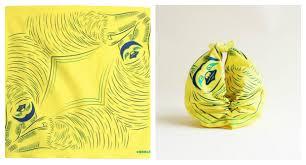 Japanese Gift Wrapping Cloth Hanging Animal Furoshiki Spoon U0026 Tamago