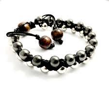 shamballa bracelet jewelry images Double row stainless steel wood shamballa bracelet simply sofia jpg