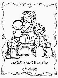 jesus loves the little children coloring pages printable coloring