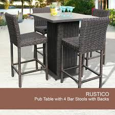 Outdoor Pub Style Patio Furniture Articles With Rustic Wooden Outdoor Bar Stools Tag Rustic Wood