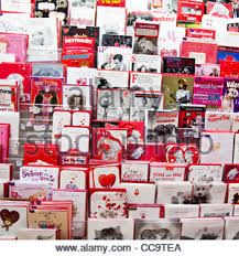 valentines day cards on sale in a shop uk stock photo royalty