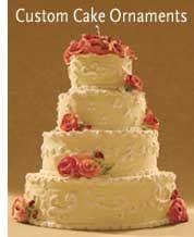 swirly designs custom miniature wedding cake ornament beautiful
