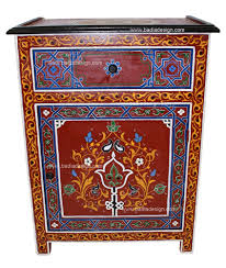hand painted nightstand hp ns004 nightstands moroccan and paint