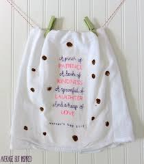 a mother u0027s day craft fingerprint tea towel