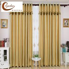 Gold Living Room Curtains Aliexpress Com Buy Byetee Gold Blackout Solid Color Window