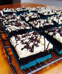 blue velvet oreo truffle brownie bars