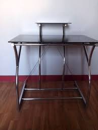 petit bureau en verre table ordinateur verre bureau duangle with table