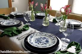 table setting blue danube table setting heidikins cooks