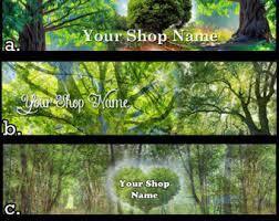 tree banner etsy