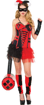 city costumes women s harley quinn costume accessories party city