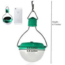 solar powered led lantern light bulb lamp for camping hiking