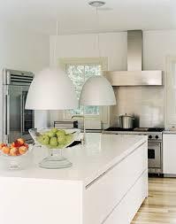 White Pendant Lights Kitchen by White Kitchens