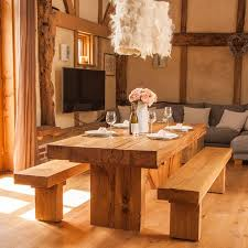 Oak Dining Room It Chunky Solid Oak Dining Table