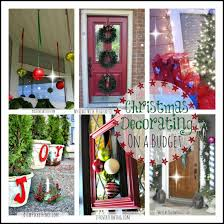 Ideas On Decorating Outside Windows For Christmas christmas decorating on a budget fun ideas