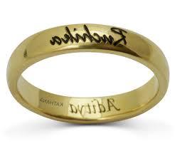 wedding ring names k gold couples band rings wedding rings engraved name rings