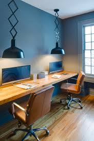 Masculine Home Office by Blue Contemporary Home Office Hupehome