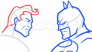 draw batman superman step step drawing sheets added