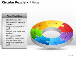 powerpoint template image circular puzzle ppt slides