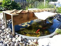 pond shade from salvaged materials 9 steps with pictures
