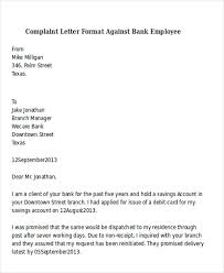 collection of solutions format of complaint letter to bank manager