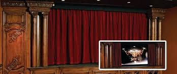 Blackout Curtains For Media Room Home Theatre Motorized Curtains Home Theatre Blackout Curtains