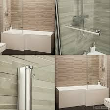 l shape bath 1700 shower bath tub left hand bath hinged screen l shape bath front panel left