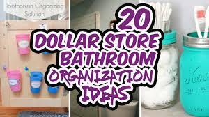 dollar store bathroom organization ideas youtube