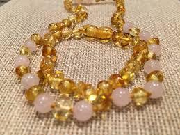amber beads bracelet images Baltic amber teething necklace bracelet set polished lemon pink rose q jpg