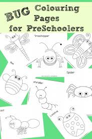 8 free bug colouring pages perfect preschoolers red ted