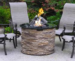 Patio Seating Ideas Propane Fire Pit Outdoor Patio Table Ideas Home Fireplaces