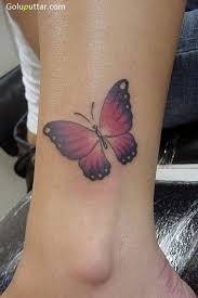 awesome ankle of 3d butterfly photos and ideas
