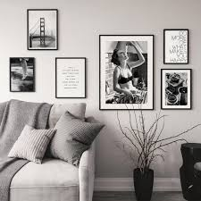 black and white prints for kitchen nordic in kitchen canvas painting posters and prints black white quotes wall pictures for living room decor