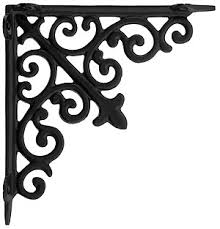 decorative scroll shelf bracket in matte black 7 7 8 x 7 7 8