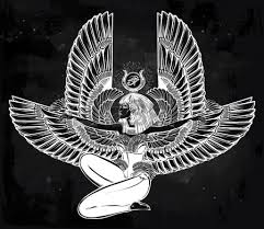 egyptian diety isis with outstratched wings isis is goddess