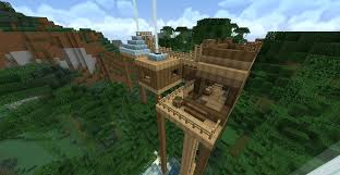 cool tree houses minecraft tree house with new texture pack by sleekhusky on