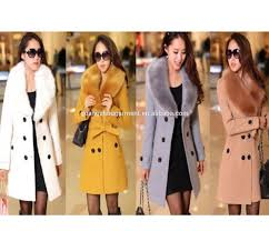2014 hot european style women s wool faux fur trench parka double