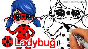 how to draw miraculous ladybug step by step chibi youtube