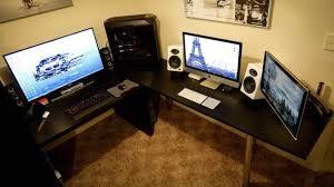 Pc Desk Setup Mac Setup Dual Display Imac 27 And A Decked Out Pc Osxdaily