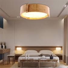 Wohnzimmerlampe Holz Deckenleuchte Holz Led Rund Eiche Deckenlampe Decken Lampe