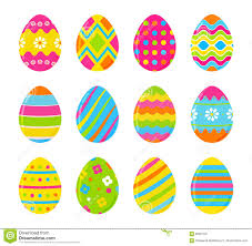 set of vector colorful easter eggs decoration for easter design