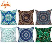 Sofa Cushion Cover Replacement by Hippie Mandala Polyester Cushion Cover Bohemian Indian Style