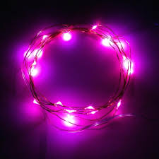 outdoor string lights ideas 7ft 2m 20 leds potted plants copper