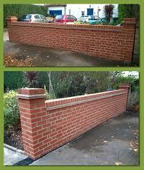 Front Garden Walls Ideas Brick Garden Wall Designs Brick Effect Garden Walls Front Garden