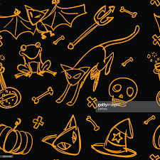 halloween seamless background seamless background halloween theme vector art getty images