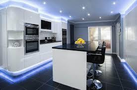 designer kitchens for less modern handleless kitchen sleek handleless kitchen design with