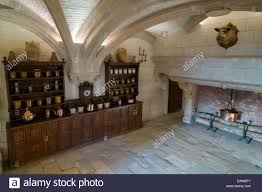 the kitchen at chateau de chenonceau castle chenonceaux stock