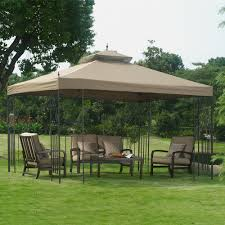 patio furniture gazebo attaching outdoor patio gazebo with metal house decorations and